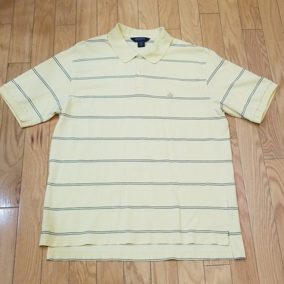 Brooks Brothers Other - Brook Brothers Yellow Striped Polo Sz XL